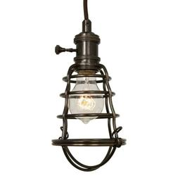 Home Decorators Collection 1-Light Aged Bronze Cage Pendant.