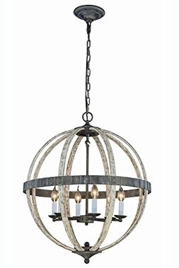Elegant Lighting 1503D24IW Orbus Collection Pendant Lamp D24