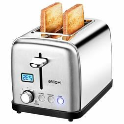 2 Slice Toaster,Stainless Steel Compact Toaster with Bagel,