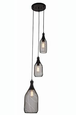 Elegant Lighting 2109D13BK Brighton Collection Pendant Lamp