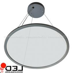 "22.8"" Slim Round Disc Dimmable LED Up/Down Pendant Light w/"