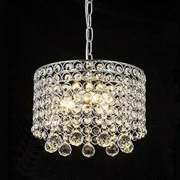 3 Bulb Ceiling Light Fixture Pendant Modern Hanging Crystal