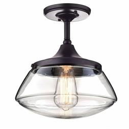 3 CLAXY Ecopower Vintage Metal & Glass Ceiling Lights1-Light