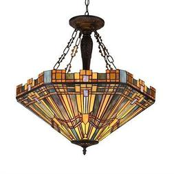 "style 3 Light Mission Inverted Ceiling Pendant Fixture 24"" S"
