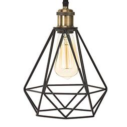 Home Luminaire 31697 Topaz 1-Light Diamond Cage Pendant with