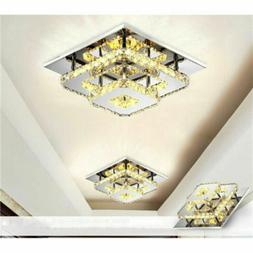 36w modern crystal ceiling light led pendant