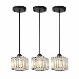 3pcs Crystal Chandelier Kitchen Island Pendant Light Ceiling