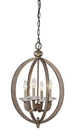 Savoy House 3-1552-4-122 Pendant with No Shades, Gold Dust F