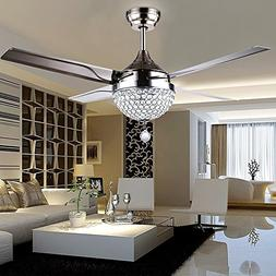 4 Leaf Stainless Steel Crystal Stealth Remote Control Ceilin