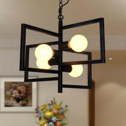 4-Light Industrial Hanging Pendant Lamp Kitchen Island Ceili