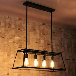 4-Lights Farmhouse Kitchen Island Light Pendant Chandelier C