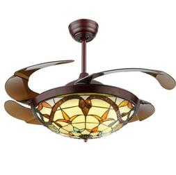 """42""""Led Variable Frequency Dimming Ceiling Fan Lamp Remote Li"""
