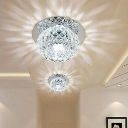5W Crystal LED Ceiling Light Fixture Pendant Lamp Lighting C