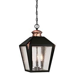 6339100 valley forge three-light outdoor pendant, matte blac