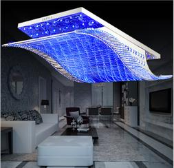 7-Color K9 Crystal Ceiling Light LED Chandelier Remote Contr