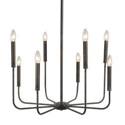 LALUZ 8-Light Chandelier Lighting Rust Pendant Lights Chande