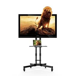 """Fleximounts Mobile TV Stand for 32-65"""" Flat Screen with Sing"""