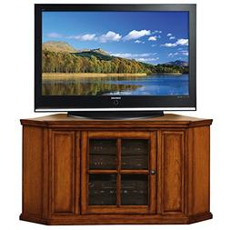 Leick Riley Holliday Corner TV Stand, 46-Inch, Burnished Oak