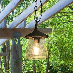 LOG BARN A03355 Outdoor Pendant Lighting, 1-Light Hanging Po