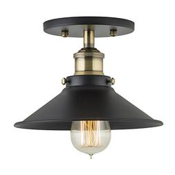 Andante Industrial Ceiling Light Fixture - Antique Brass - L