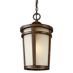 Atwood Outdoor Hanging Lantern in Brown Stone - Bulb Type: F