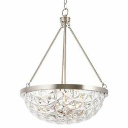 "Kira Home Aurora 19"" 3-Light Modern Chic Pendant Chandelier"