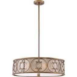 "Quoizel Avondale 22"" Pendant 4-Light Fixture Empire Brass AD"