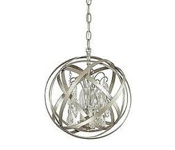 Axis Winter Gold Three Light Pendant with Crystals