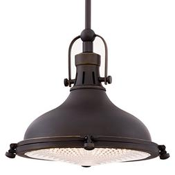 """Kira Home Beacon 11"""" Vintage Industrial Pendant Light with F"""
