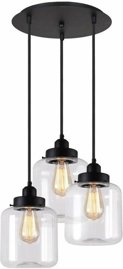 Unitary Brand Vintage Glass Shade Jar Pendant Light Max 180W