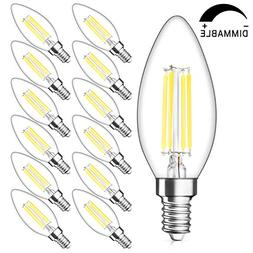 SHINE HAI Candelabra LED Filament Bulbs Dimmable 40W Equival