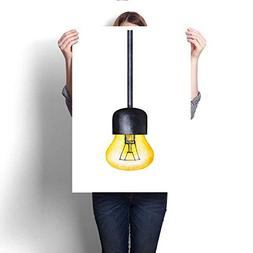 canvas painting sticker one light
