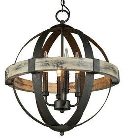 Artcraft Lighting Castello 4-Light Mini Chandelier, Black