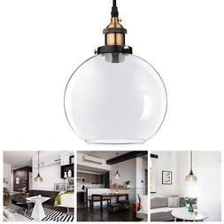 Ceiling Pendant Light Glass Ball Lamp Shade Holder Industria
