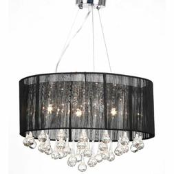 vidaXL Chandelier Black 18x20