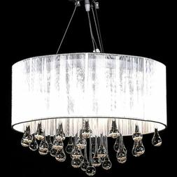 vidaXL Chandelier White 18x20
