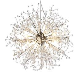 GDNS Chandeliers Firework LED Light Stainless Steel Crystal