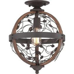 Quoizel CHB1612 Chamber 1 Light Semi-Flush Ceiling Fixture -