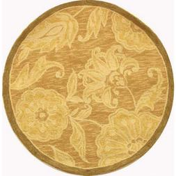 Chelsea Light Brown 3 Ft. X 3 Ft. Round Area Rug