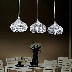 DINGGU™Chrome Finish Modern 3 Lights Crystal Chandelier Pe