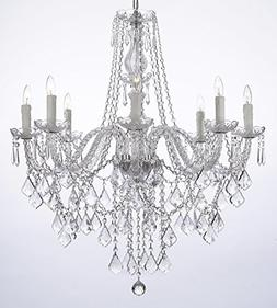 Crystal Chandelier Lighting 33ht X 28wd 8 Lights Fixture Pen