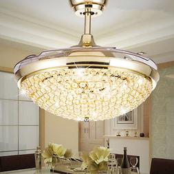 crystal invisible ceiling fans led chandeliers home
