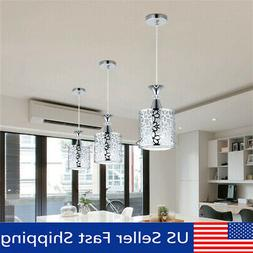 Crystal Iron Ceiling Light Pendant Lamp Dining Room Chandeli