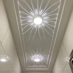 Crystal LED Ceiling Light Circular Pendant Lamp Fixture Ligh