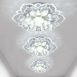 Crystal LED Ceiling Light Fixture Hallway Pendant Lamp Chand