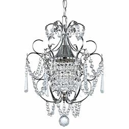 Crystal Mini-Chandelier Pendant Light in Chrome Finish
