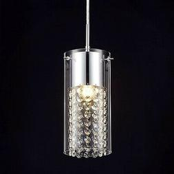 crystal mini pendant light fixture glass hanging