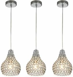 Crystal Mini Pendant Light Fixture Hanging Ceiling Kitchen I