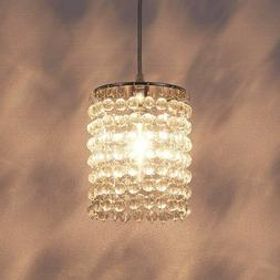 Crystal Mini Pendant Light Fixture Modern Hanging Ceiling Ch