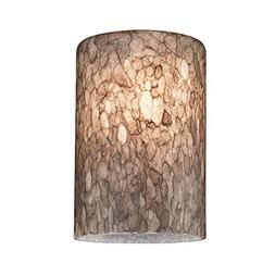 Cylinder Art Glass Shade - Lipless with 1-5/8-Inch Fitter Op